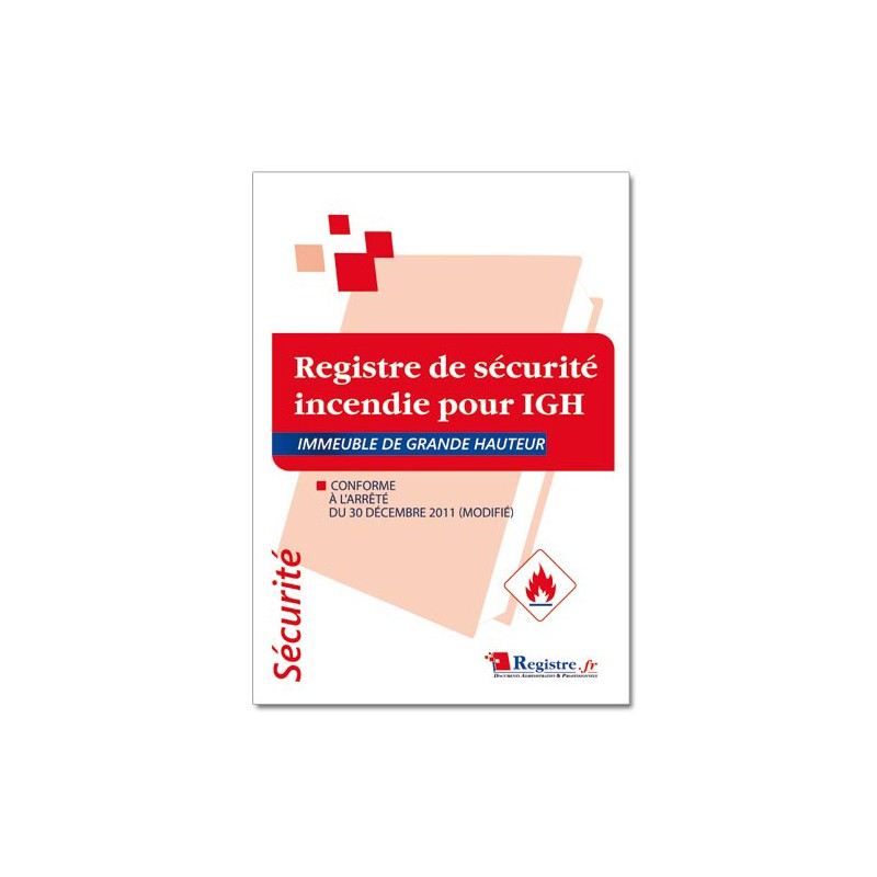 REGISTRE DE SECURITE INCENDIE POUR IGH (P055)