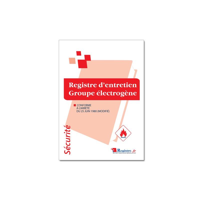 REGISTRE D'ENTRETIEN GROUPE ELECTROGENE (P059)