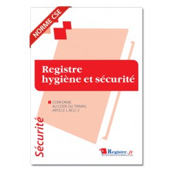 REGISTRE HYGIENE ET SECURITE (P062)