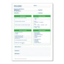REGISTRE D'UTILISATION DES TRAITEMENTS PHYTOSANITAIRES (P064)