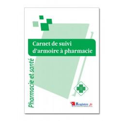 CARNET DE SUIVI D'ARMOIRE A PHARMACIE (P069)