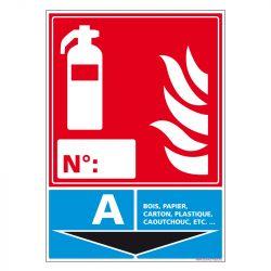 Signalisation d'incendie - Extincteur incendie classe A