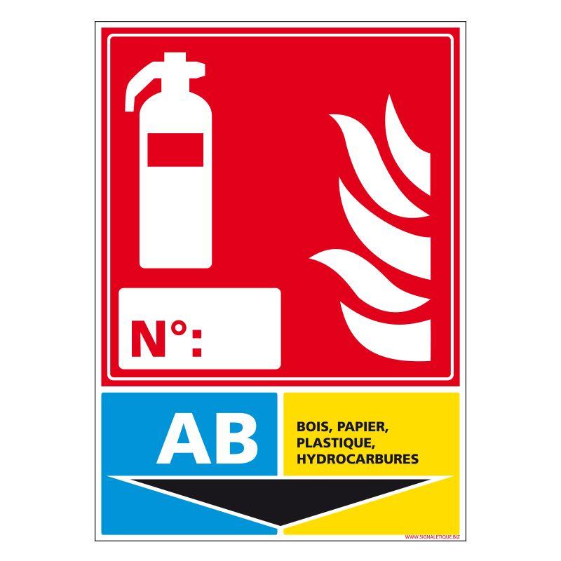 Signalisation d'incendie - Extincteur incendie classe AB