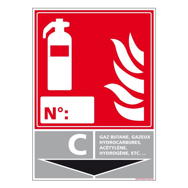 Signalisation d'incendie - Extincteur incendie classe C