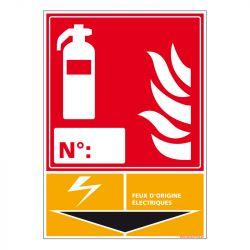 Signalisation d'incendie - Extincteur incendie classe Electrique
