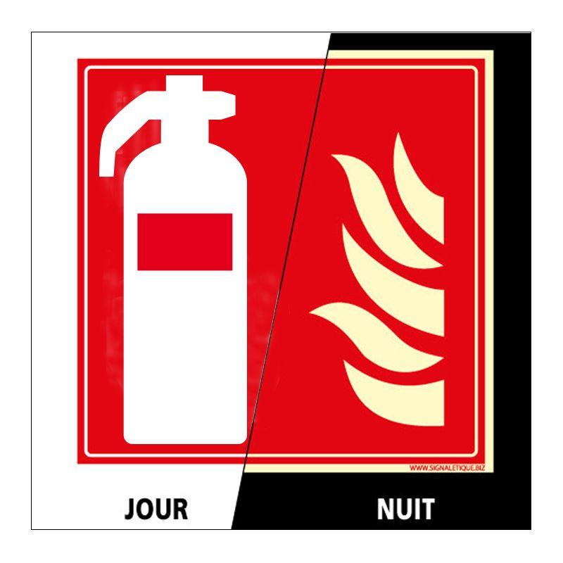 Signalisation d'incendie - Extincteur photoluminescent