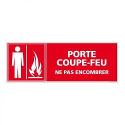 Signalisation d'incendie - Porte coupe feu - Ne pas encombrer
