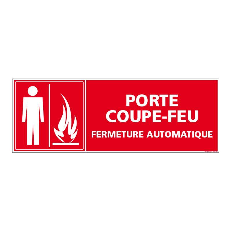 Signalisation d'incendie - Porte coupe feu - Fermeture automatique