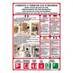 Signalisation d'incendie - Consignes incendie en hôtel