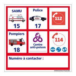 Signalisation d'incendie - Numéro d'urgence personnalisable