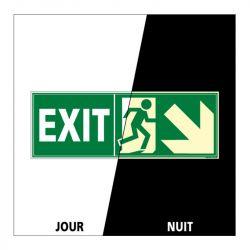 Signalisation de secours - Sortie vers le bas à droite