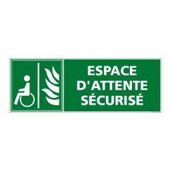 Signalisation de secours - Espace d'attente sécurisé