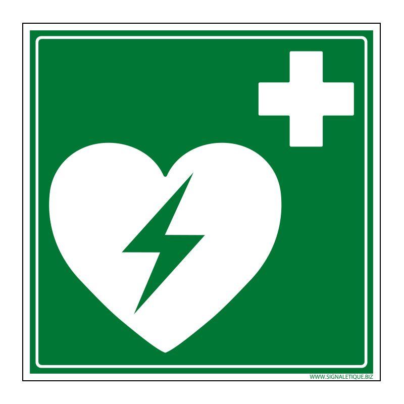 Signalisation de secours - Défibrillateur cardiaque