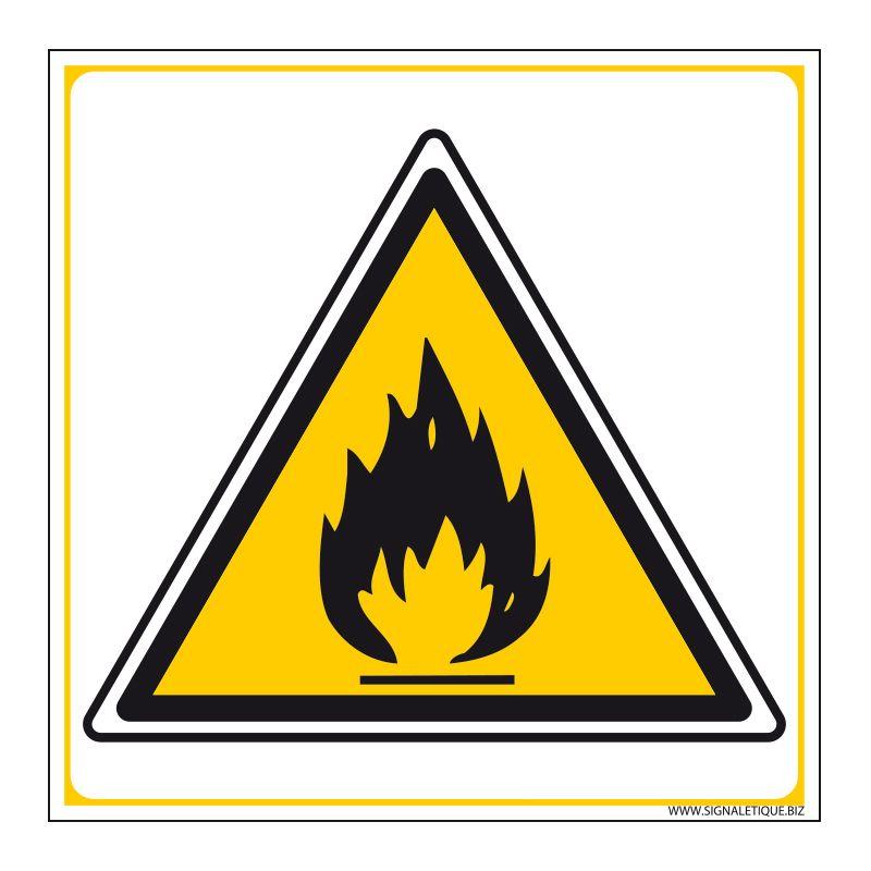 Signalisation de danger - Matières inflammables