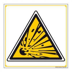 Signalisation de danger - Matières explosives
