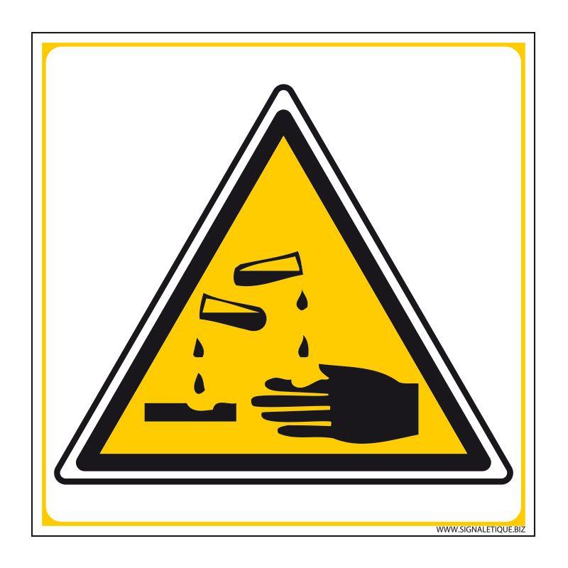 Signalisation de danger - Matières corrosives