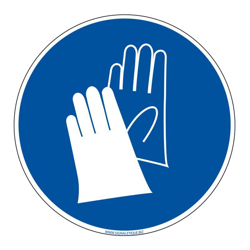 Signalisation d'obligation - Port de gants obligatoire