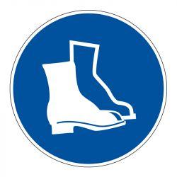 Signalisation d'obligation - Port de chaussures de sécurité obligatoire