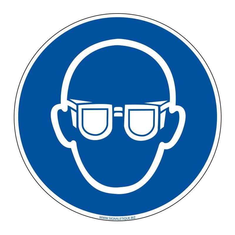 Signalisation d'obligation - Port de lunettes de protection obligatoire