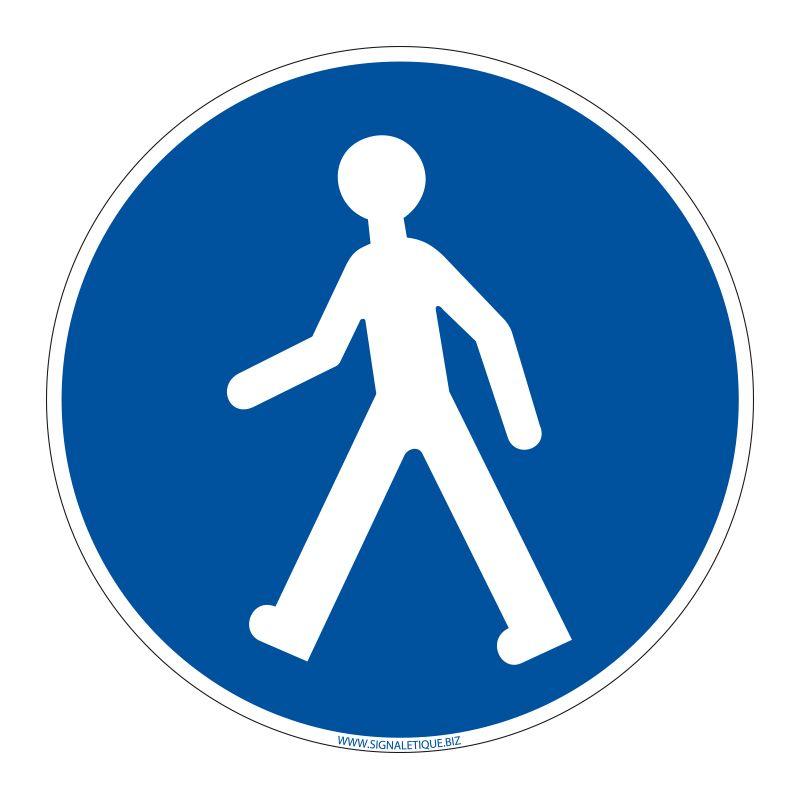 Signalisation d'obligation - Passage piétons obligatoire