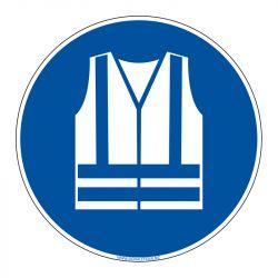 Signalisation d'obligation - Port du Gilet de sécurité obligatoire