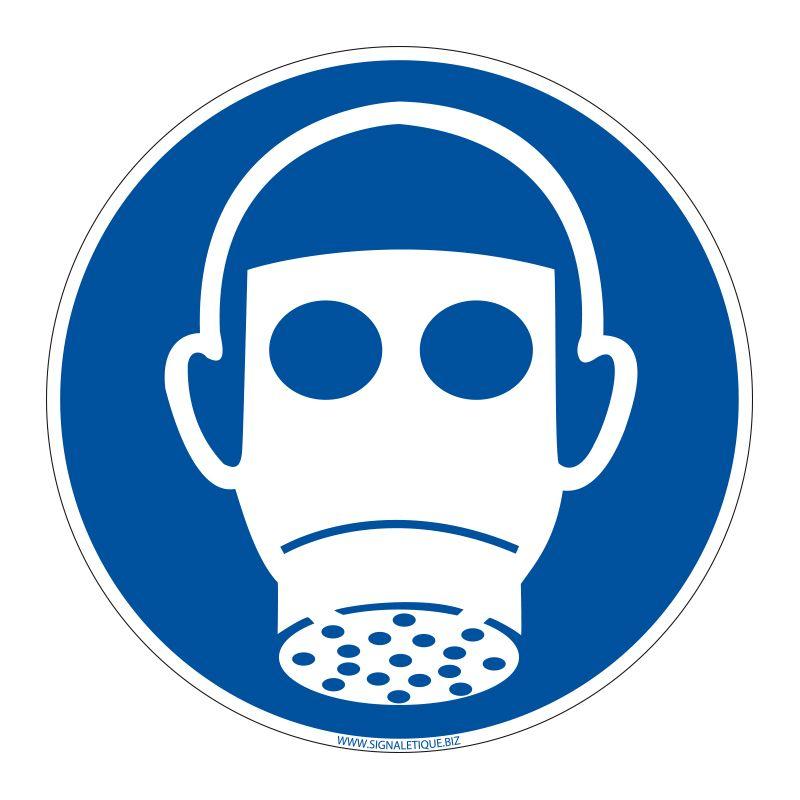 Signalisation d'obligation - Port du masque à gaz obligatoire