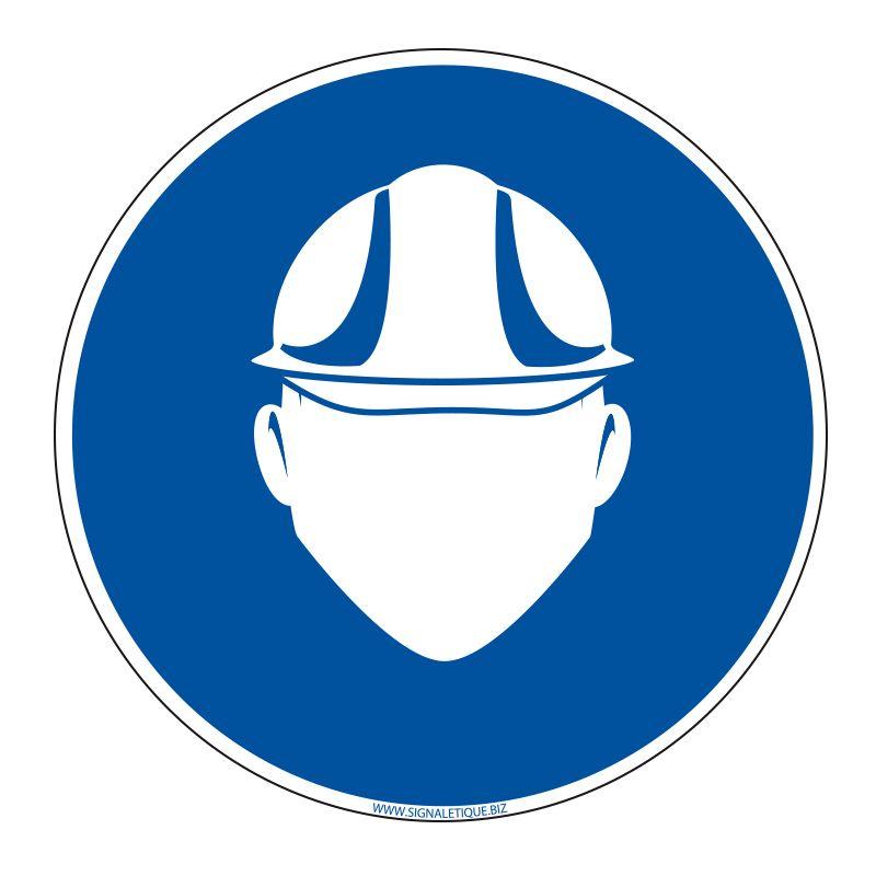 Signalisation d'obligation - Port du casque obligatoire