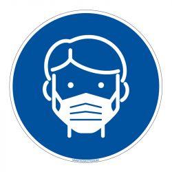 Signalisation spécial COVID-19 - Port du masque obligatoire - Mesure prévention coronavirus