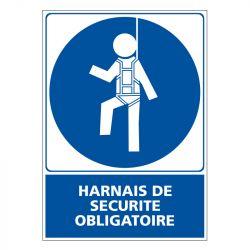 Signalisation d'obligation - Harnais de sécurité obligatoire