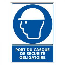 Signalisation d'obligation - Port du casque de sécurité obligatoire