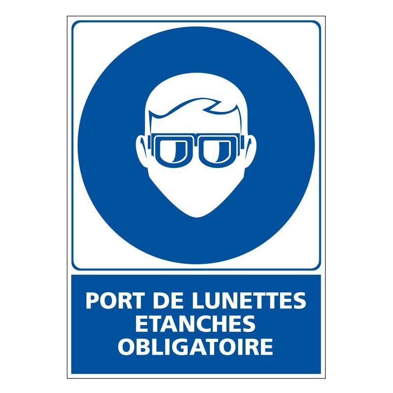 Signalisation d'obligation - Port de lunettes etanches obligatoire