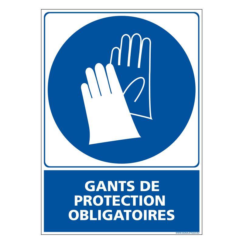 Signalisation d'obligation - Gants de protection obligatoire