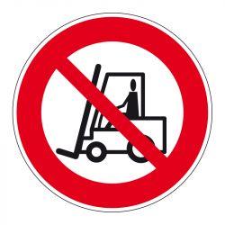 Signalisation d'interdiction - Véhicules de manutention interdits