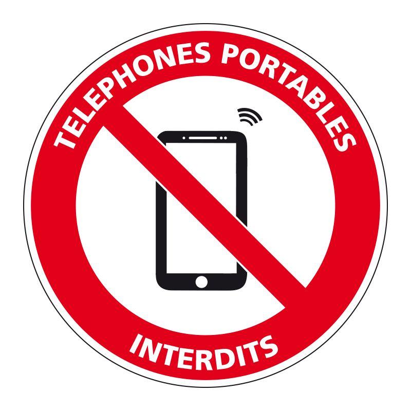 Signalisation d'interdiction - Téléphone portable interdit