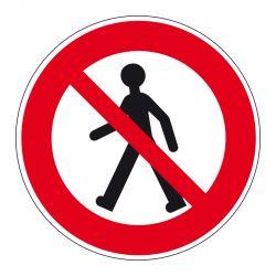 Signalisation d'interdiction - Piétons interdits