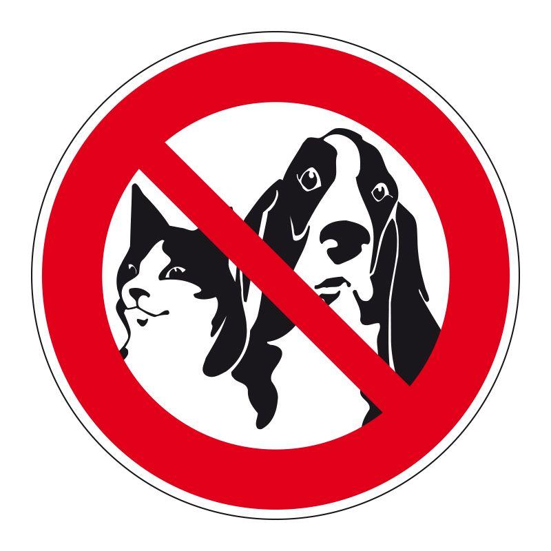 Signalisation d'interdiction - Animaux interdits