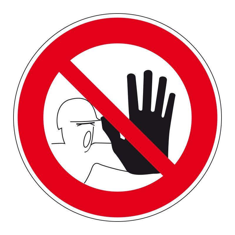 Signalisation d'interdiction - Interdit a toute personne
