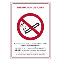 Signalisation d'interdiction - Interdit de fumer