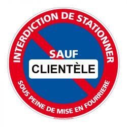 Signalisation de parking / stationnement - Interdiction de stationner sauf clientèle