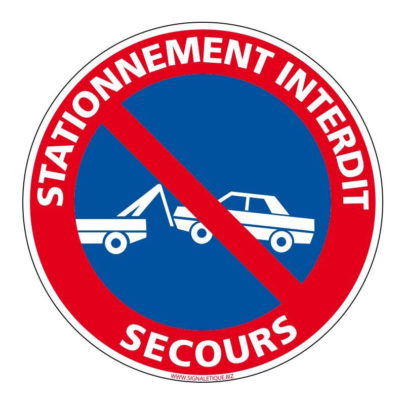 Signalisation de parking / stationnement - Stationnement interdit - Réservé aux secours