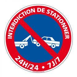 Signalisation de parking / stationnement - Interdiction de stationner 24h/24 et 7j/7