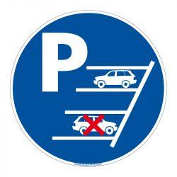 Signalisation de parking / stationnement - Stationnement en marche arrière
