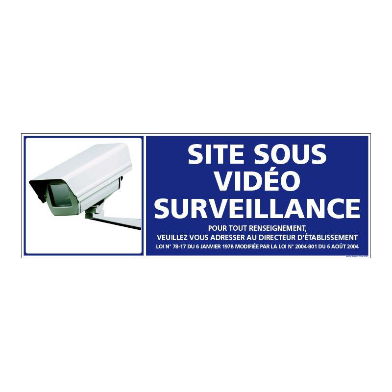 Signalisation de sécurité - Site sous vidéo surveillance