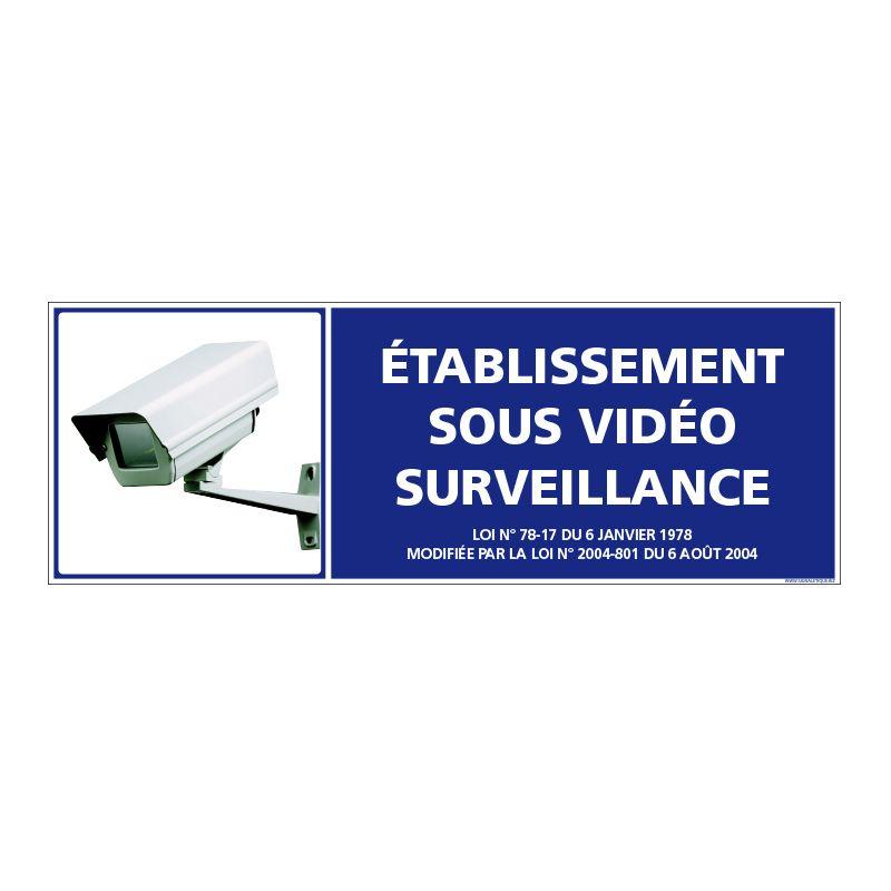 Signalisation de sécurité - Etablissement sous vidéo surveillance