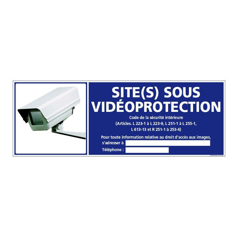 Signalisation de sécurité - Site sous vidéo protection