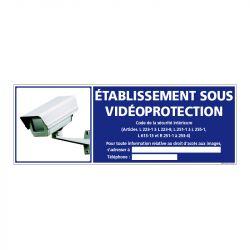 Signalisation de sécurité - Etablissement sous vidéo protection