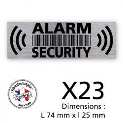 Signalisation de sécurité - Planche de 23 autocollants dissuasifs alarm security