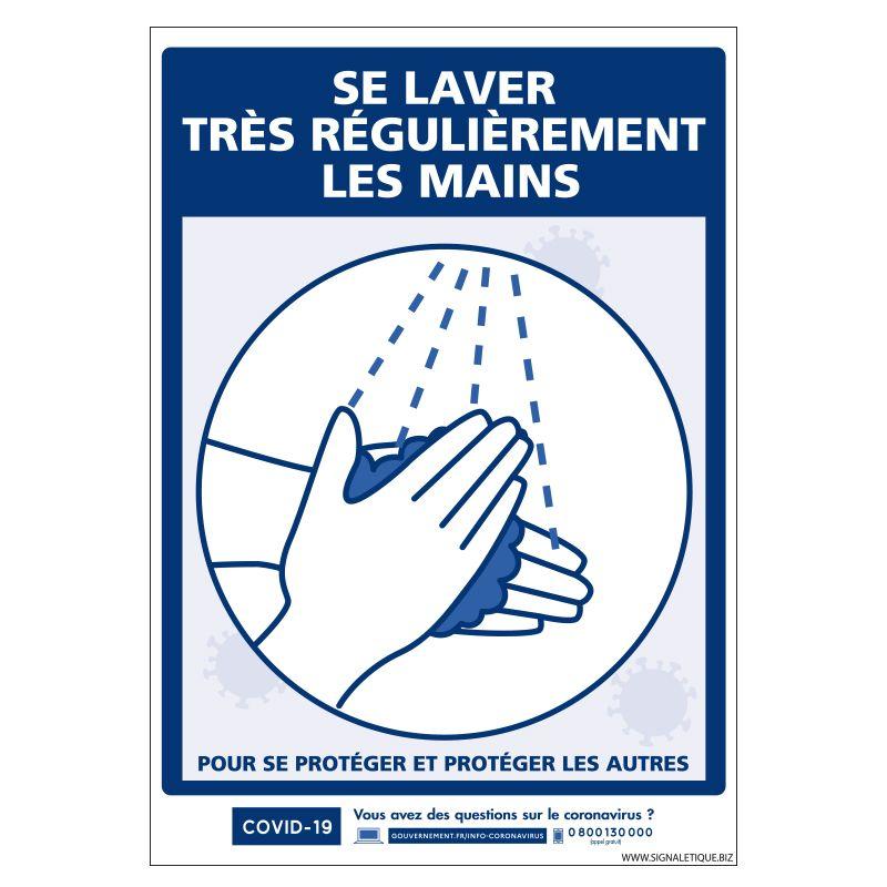 Signalisation spécial COVID-19 - Se laver très régulièrement les mains - Prévention coronavirus