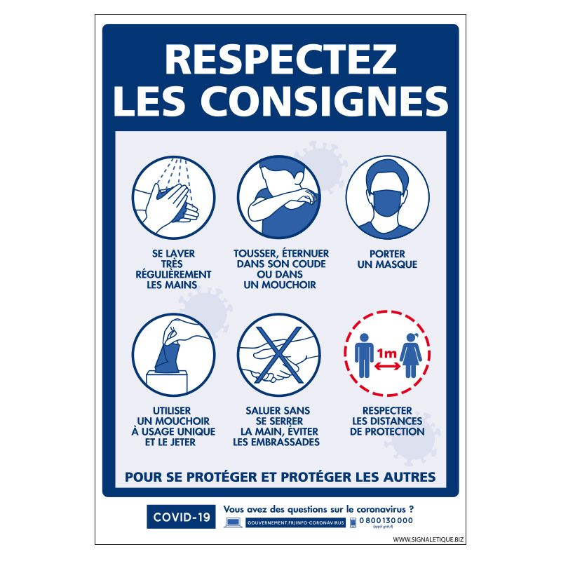 Signalisation spécial COVID-19 - Respectez les consignes préventive du coronavirus