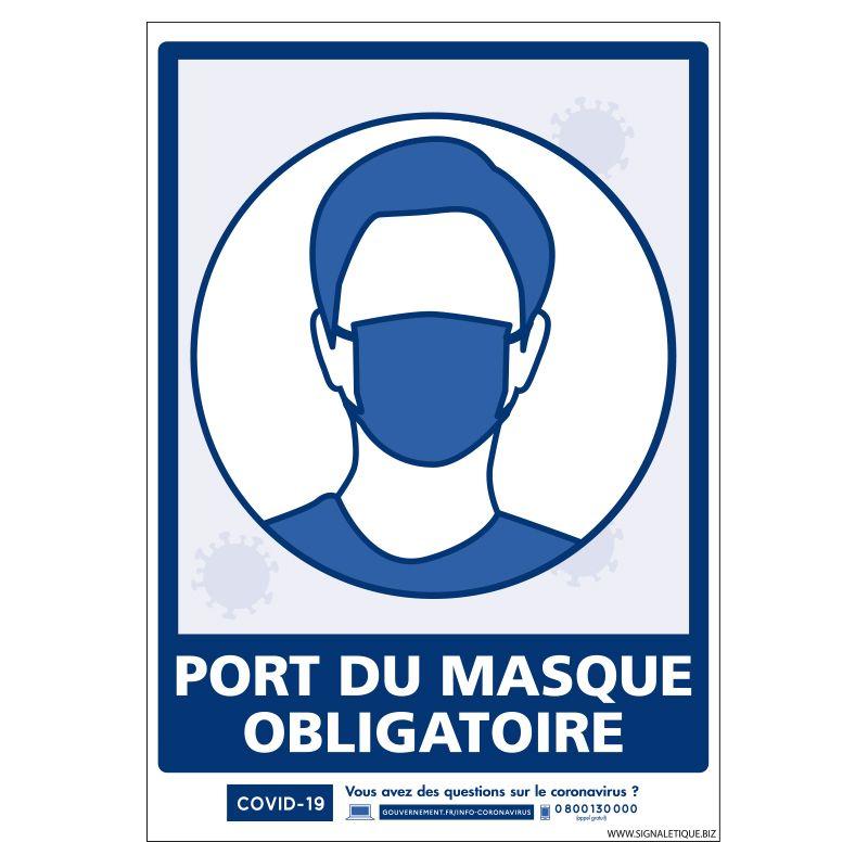 Signalisation spécial COVID-19 - Port du masque obligatoire
